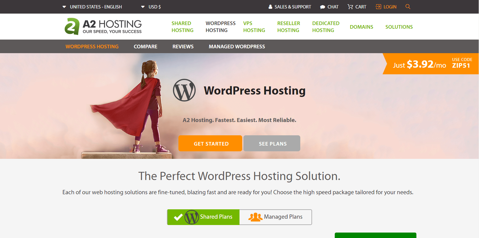 A2 WordPress Hosting